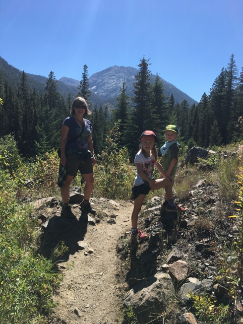Hiking in the Eagle cap Wilderness